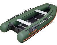 Надувная моторная килевая лодка Kolibri КМ-360DSL, настил фанера