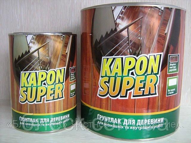 """Грунтувальний Лак KAPON SUPER безбарвний """"БЛИСК"""" 18 кг (відро б/ж 20л)"""