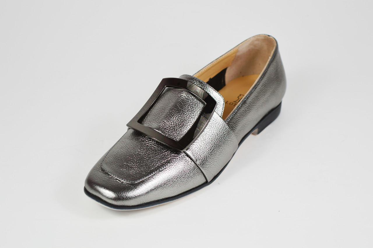 Туфлі жіночі шкіряні платина Lottini 471080