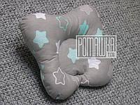 Ортопедическая подушка Бабочка 30х25 для малышей младенцев грудничков новорожденных детей 4060 Бирюзовый 2