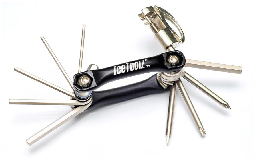 Ключ ICE TOOLZ 91B3 складной 11 инструментов Mighty 11