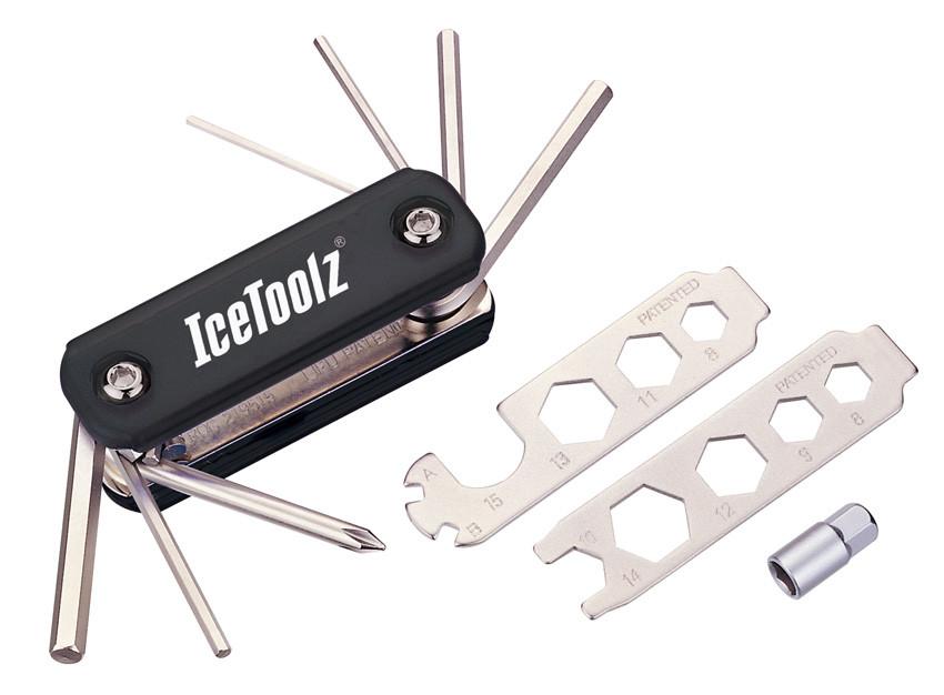 Ключ ICE TOOLZ 93B1 складной 20 инструментов