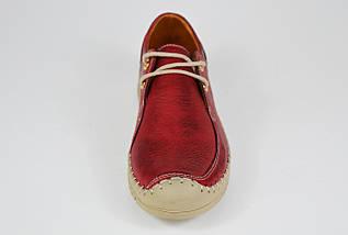 Мокасины женские кожаные бордовые Donna Style 1027, фото 3