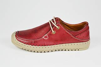 Мокасины женские кожаные бордовые Donna Style 1027, фото 2