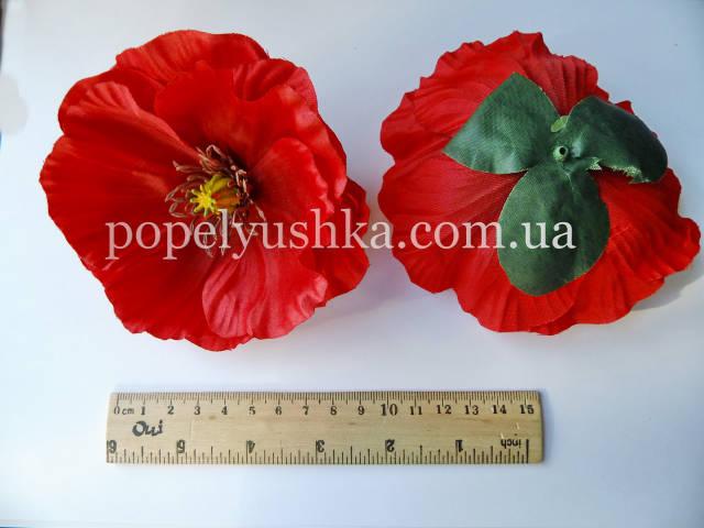 Квітка мака червоного 10см