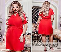 Ультрамодное летнее платье с кружевом большого размера, фото 1