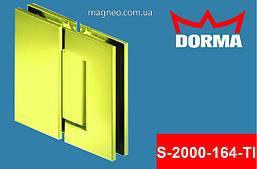 Петля маятниковая стекло стекло самодоводящаяся для душевой кабины из стекла, золото Dorma S2000 (Германия)