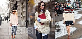 Женский вязаный джемпер — обязательный атрибут гардероба