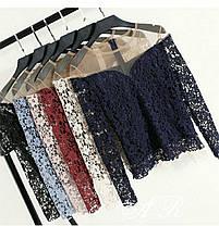 Женская блуза набивное кружево, размер 42-44, фото 2