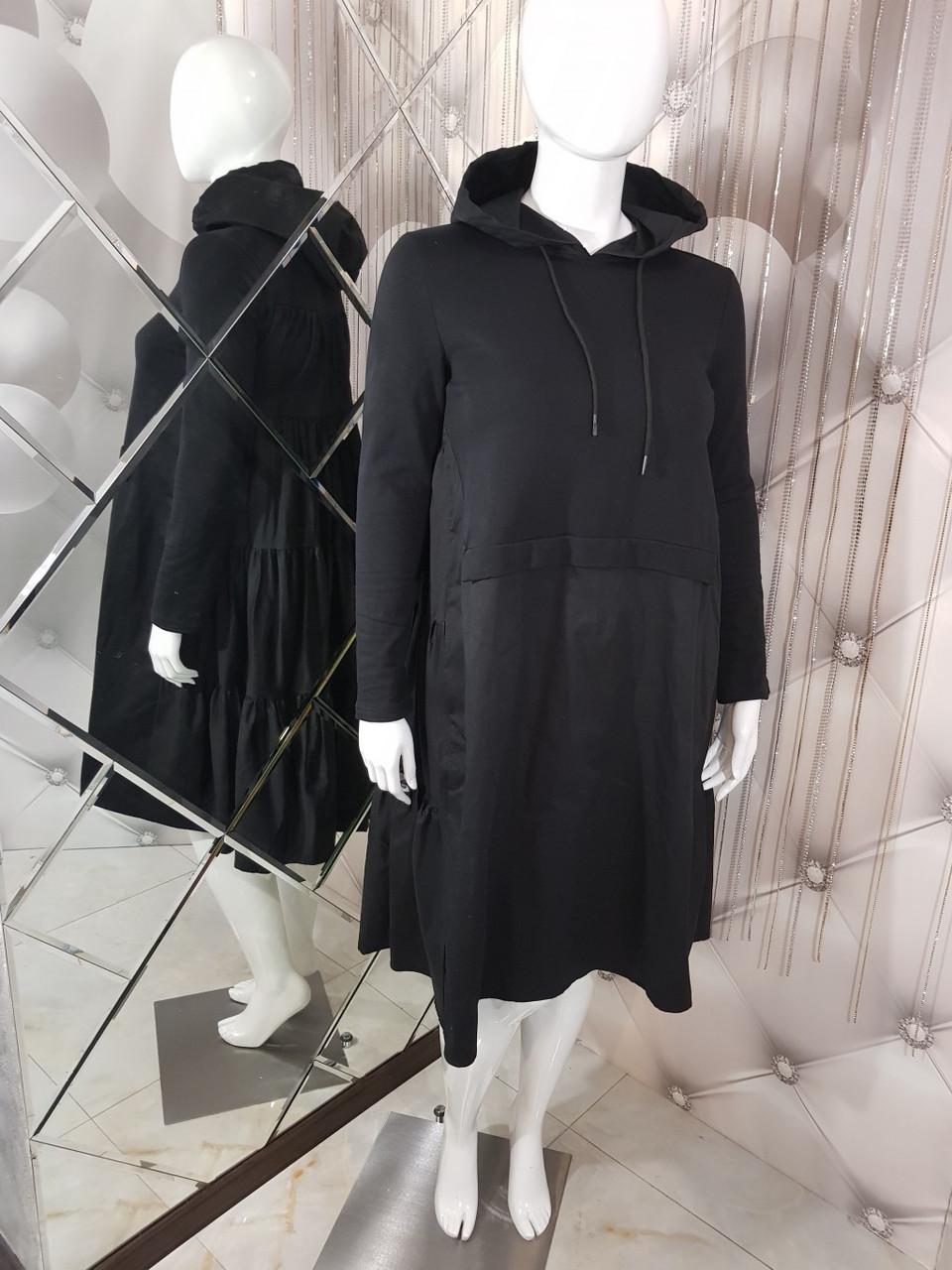 черное платье с капюшоном 1135 продажа цена в харькове платья женские от магазин одежды и не только Choose And Buy 910039616