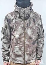 Тактическая куртка софтшел Softshell Stalker Commandor a-tacs а-такс