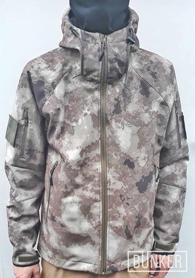 Тактическая куртка софтшел Softshell Stalker Commandor a-tacs а-такс, фото 1