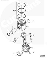 3901433 Вкладыши шатунные S3 третий ремонт (0,75) для двигателя Cummins C8,3