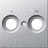 Накладка антенной розетки двопостовая TV+FM алюминий Shneider Merten (MTN299560)