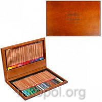 Набор цветных карандашей MARCO Renoir 3100-72 WB, 72 цвета в деревянном пенале
