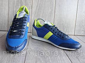 Кроссовки мужские синие сетка, фото 3