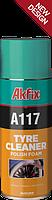 Спрей пена для очистки и полировки шин AKFIX А117  500мл