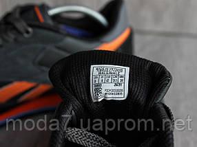Кроссовки мужские черные Reebok нат. кожа реплика, фото 2