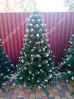 Искусственная елка 1.80м с белыми кончиками (ефект шишки).