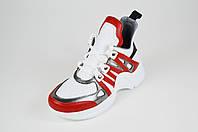 Кроссовки женские красно-белые Donna Style 210