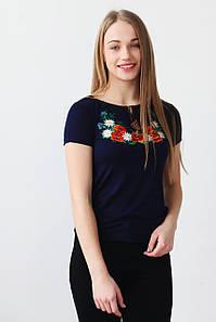 Чудова вишита жіноча футболка Маки А-23