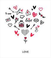"Слайдер-дизайн для ногтей ""LOVE"""