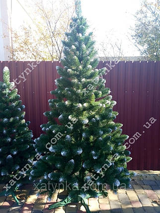 Искусственная елка 2.20м с белыми кончиками (ефект шишки)., фото 2