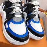 Кроссовки, кеды, сникерсы Луи Витон Archlight Sneaker, цвет синий, фото 4