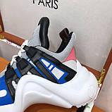 Кроссовки, кеды, сникерсы Луи Витон Archlight Sneaker, цвет синий, фото 3