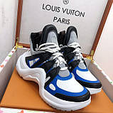 Кроссовки, кеды, сникерсы Луи Витон Archlight Sneaker, цвет синий, фото 2