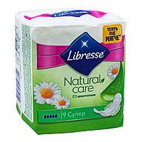 Гигиенические прокладки Libresse Natural Care Ultra Clip Super 7 мм 9 шт 9874-04