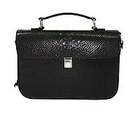 Cумочка-портфель кожа чёрная, фото 1