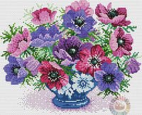 Набор для вышивания крестиком Букет цветов. Размер: 20,6*17 см