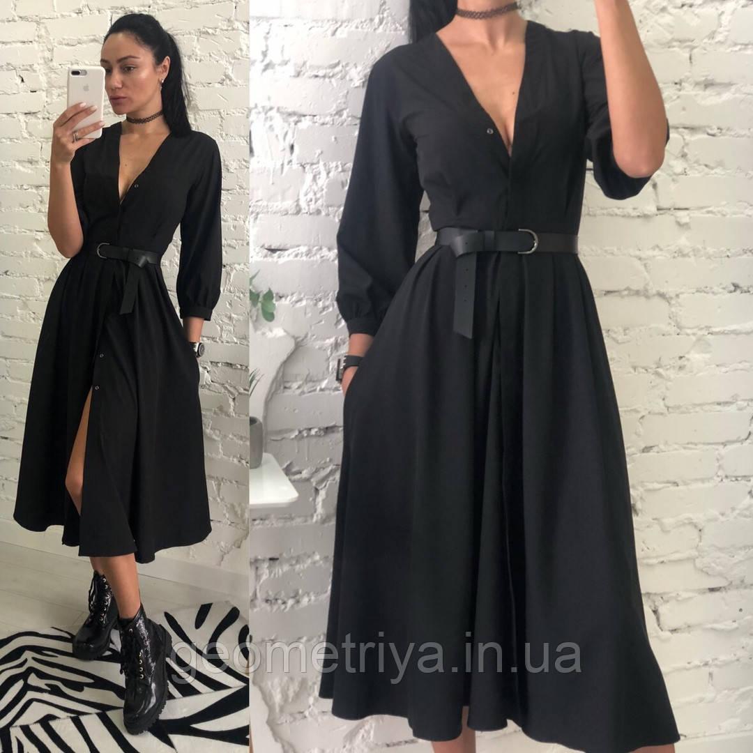 5e72360f9e6 Женское черное платье миди из шифона  продажа