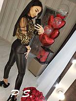 Блуза леопардовая, размер С-М, фото 2