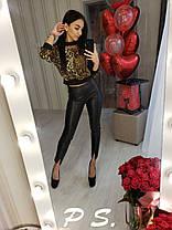 Блуза леопардовая, размер С-М, фото 3