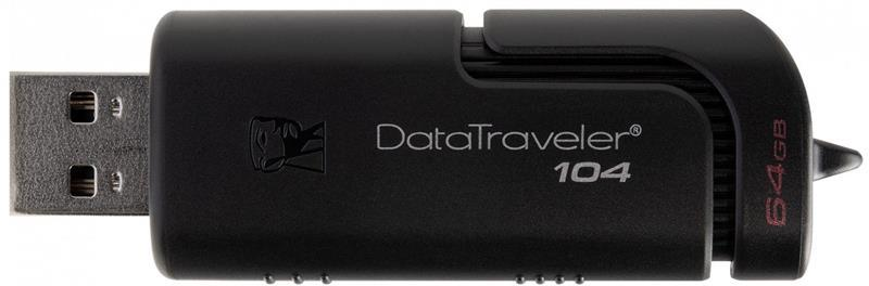 Флеш-накопитель USB  64GB Kingston DataTraveler 104 Black (DT104/64GB)
