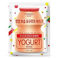 Омолаживающая тканевая маска для лица Rorec с йогуртом, фото 1