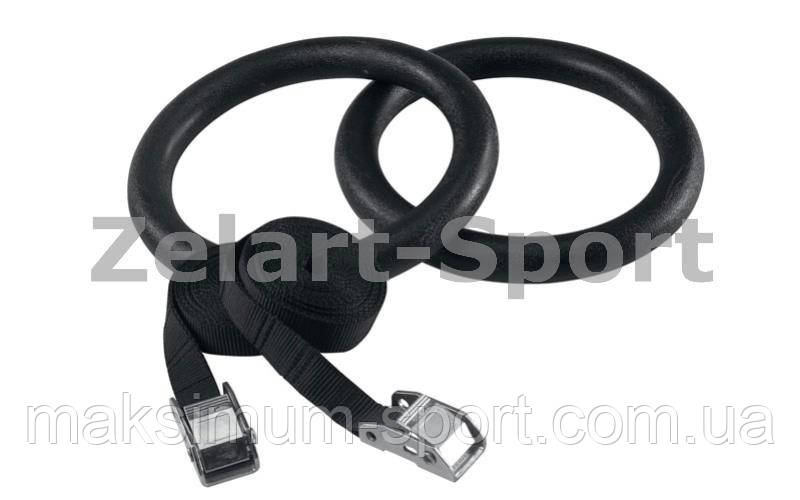 Кольца гимнастические для Кроссфита RS1001 (ленты-нейлон l-4,5 м, кольцо-ABS d-23,5 см) - Все спортивные товары в лучшем интернет-магазине «MAXIMUM-SPORT» в Харькове
