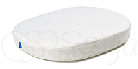 Матрас в детскую овальную кроватку ТМ Маленькая Соня 60х70 см