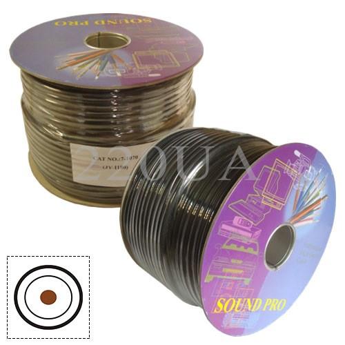 Кабель аудіо-відео Sound PRO JY-1180 1x0.75 мм2 /80 OFC CU чорний 100м