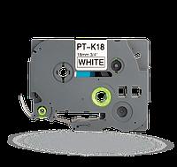 PT-TAPE18-BW Ламинированная лента для принтераBrother