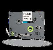PT-TAPE18-BW Ламинированная лента для принтера Brother