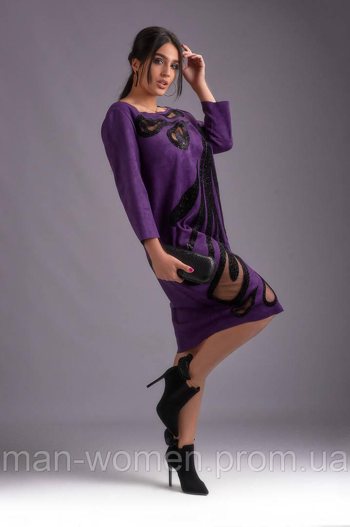 Платье большого размера Likara. Размеры: батал(50,52,54,56); супербатал(58,60,62)