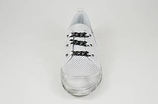 Кроссовки серебристые кожаные Guero 143, фото 3