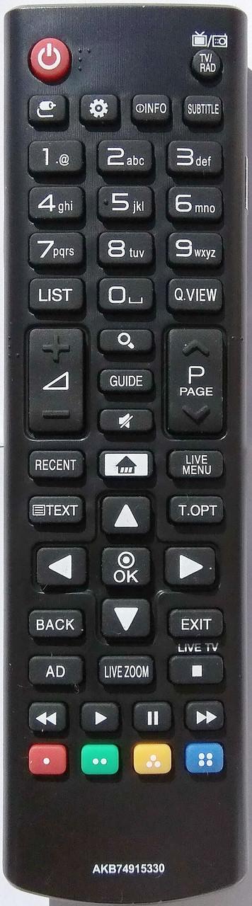 Пульт для телевизора LG. Модель AKB74915330