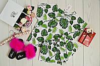 Пижама женская принт Листья пальмы