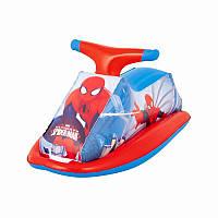 Детский надувной плотик - скутер Спайдермен Машина, размер 89 х 46 см, 98012
