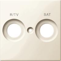 Накладка антенной розетки двопостовая R/TV+SAT бежевый Shneider Merten(MTN299844)