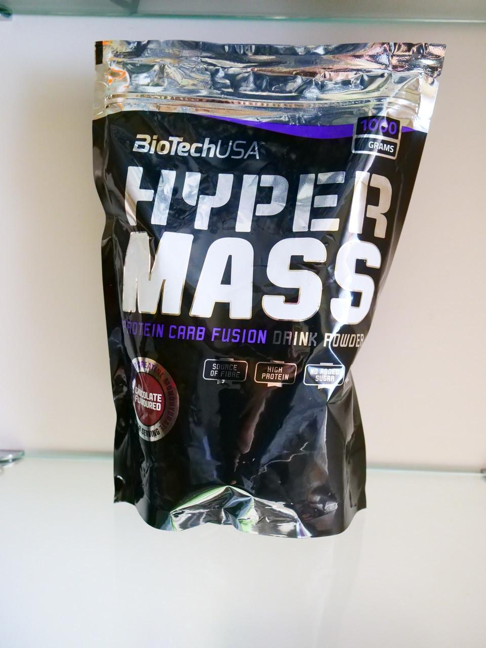Гейнер для набора мышечной массы BioTech USA Hyper Mass 1000 g Малиновый йогурт